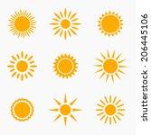 Sun Icons Or Symbols Collectio...