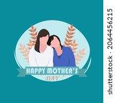 happy mother's day flat design | Shutterstock .eps vector #2064456215