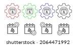 calendar 4th july vector icon...