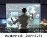 rear view of businesswoman... | Shutterstock . vector #206448298