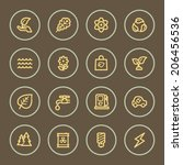 eco web icons set  coffee series | Shutterstock .eps vector #206456536