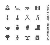 gardening icons | Shutterstock .eps vector #206457592