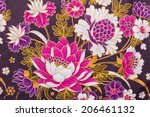 batik sarong pattern background ... | Shutterstock . vector #206461132
