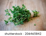 Bunch Of Fresh Organic Thyme On ...