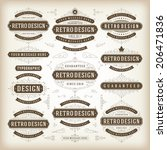 vintage vector design elements. ... | Shutterstock .eps vector #206471836