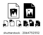 photos vector icon in file set...