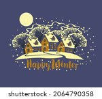 vector banner or greeting card... | Shutterstock .eps vector #2064790358
