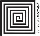 vector  image of spiral square...   Shutterstock .eps vector #2064794768