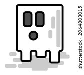 cute halloween square ghost... | Shutterstock .eps vector #2064803015