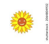 cute sun flower vector image ...   Shutterstock .eps vector #2064804932