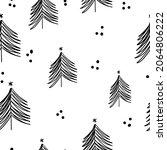 winter graphic seamless pattern ... | Shutterstock .eps vector #2064806222