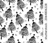 winter graphic seamless pattern ... | Shutterstock .eps vector #2064806228