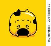 cute yellow cat mascot... | Shutterstock .eps vector #2064808532