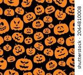 seamless pattern with pumpkins  ... | Shutterstock .eps vector #2064810008