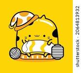 cute cat mascot character... | Shutterstock .eps vector #2064813932