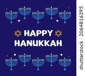 happy hanukkah vector cartoon... | Shutterstock .eps vector #2064816395