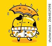 cute cat mascot character... | Shutterstock .eps vector #2064819398