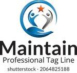 maintain logo design free...   Shutterstock .eps vector #2064825188