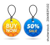 buy now tag.  50  sale tag....   Shutterstock .eps vector #2064839102