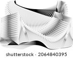 abstract halftone lines...   Shutterstock .eps vector #2064840395