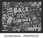 doodle back to school background | Shutterstock .eps vector #206494132