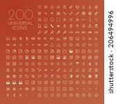 icon set | Shutterstock .eps vector #206494996