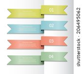 set of colorful ribbons with... | Shutterstock .eps vector #206495062