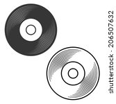 Vinyl Record Silhouette And...