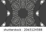 black banner with vintage white ...   Shutterstock .eps vector #2065124588