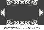 black banner with vintage white ...   Shutterstock .eps vector #2065124792
