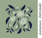 folk flowers floral art print...   Shutterstock .eps vector #2065126682