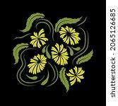 folk flowers floral art print...   Shutterstock .eps vector #2065126685