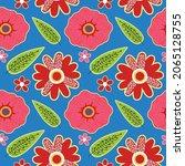 olorful flowers set elements...   Shutterstock .eps vector #2065128755