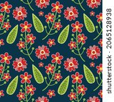 olorful flowers set elements...   Shutterstock .eps vector #2065128938