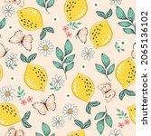 vector seamless summer pattern...   Shutterstock .eps vector #2065136102
