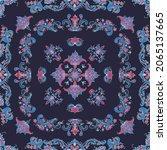 rosemaling tile  traditional...   Shutterstock .eps vector #2065137665