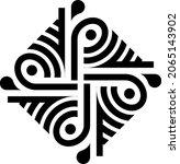 traditional asian  indian motif ...   Shutterstock .eps vector #2065143902