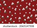 stylized ornamental floral...   Shutterstock .eps vector #2065147508