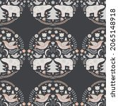 christmas seamless pattern in...   Shutterstock .eps vector #2065148918