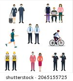 activities with the masks ...   Shutterstock .eps vector #2065155725