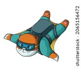 cute cat flying with wingsuit   Shutterstock .eps vector #2065156472