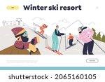 winter ski resort concept of...   Shutterstock .eps vector #2065160105