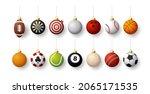 realistic sport christmas balls ...   Shutterstock .eps vector #2065171535