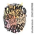 begin each day with a grateful...   Shutterstock .eps vector #2065180988