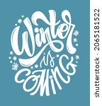 winter is coming. lettering...   Shutterstock .eps vector #2065181522