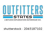 outfitters states  typography...   Shutterstock .eps vector #2065187102