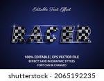 racer 3d editable text effect   Shutterstock .eps vector #2065192235