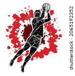 gaelic football player action...   Shutterstock .eps vector #2065192352