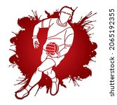 gaelic football player action...   Shutterstock .eps vector #2065192355