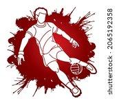 gaelic football player action...   Shutterstock .eps vector #2065192358